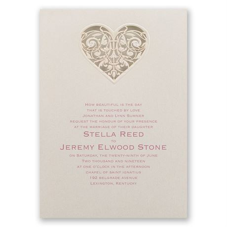 Touched by Love Laser Cut Invitation