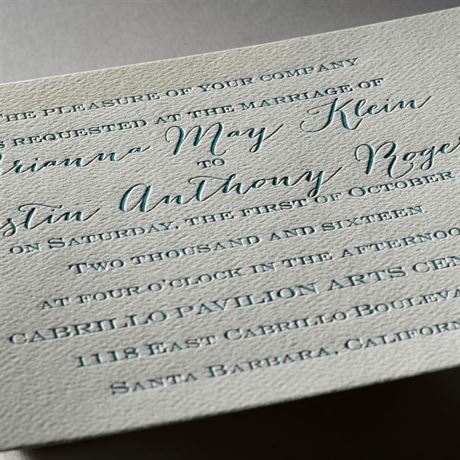 Playful Presentation - Ecru - Featherpress Invitation