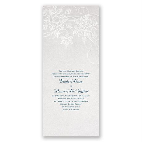 "Winter""s Kisses Invitation"
