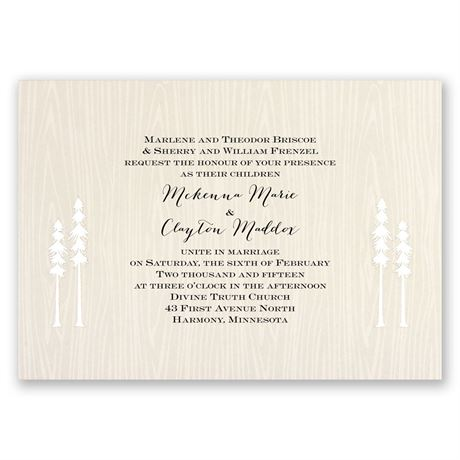 Regal Redwoods Invitation