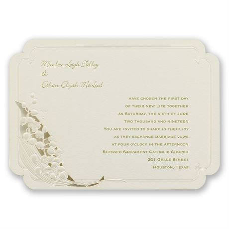 Lily of the Valley Laser Cut Invitation