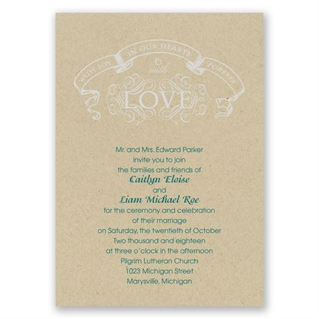 Joy and Love Invitation