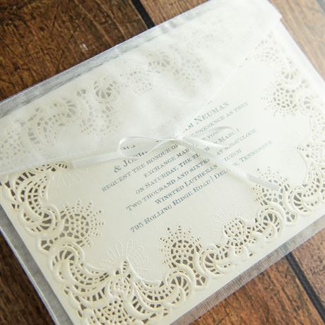 Simply Radiant - Laser Cut Invitation