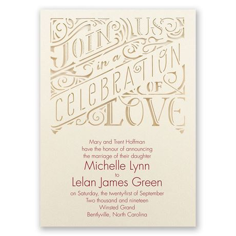 Transparent Love Laser Cut Invitation