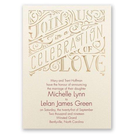Transparent Love Laser Cut Invitation