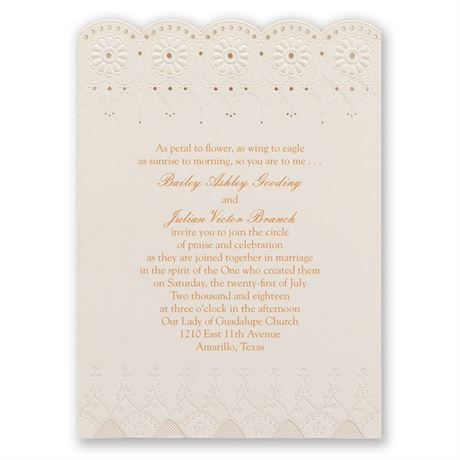 Dainty Daisies Laser Cut Invitation