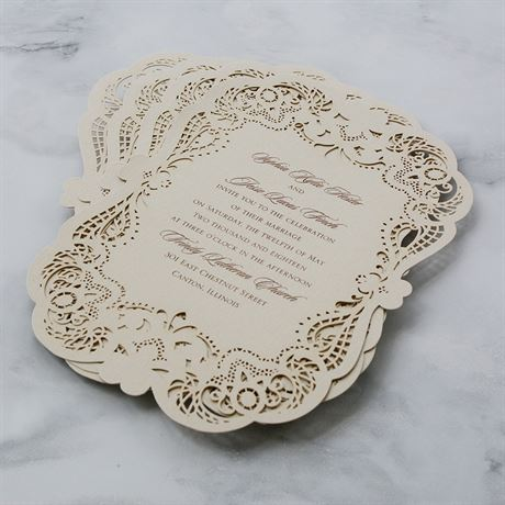 Opulent Lace - Laser Cut Invitation