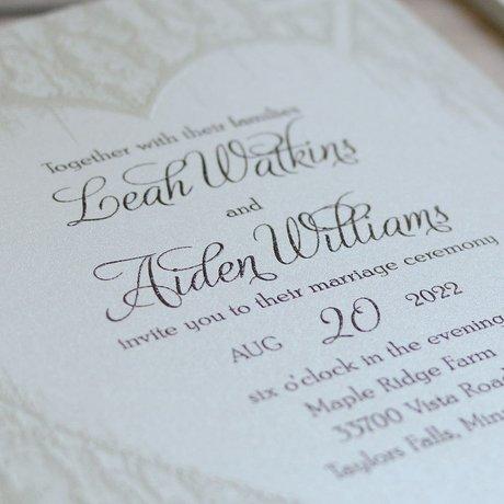 Carved Elegance - Invitation
