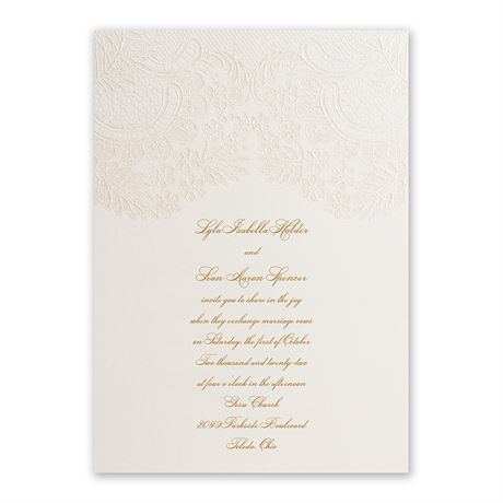 Lace and Luxury Invitation
