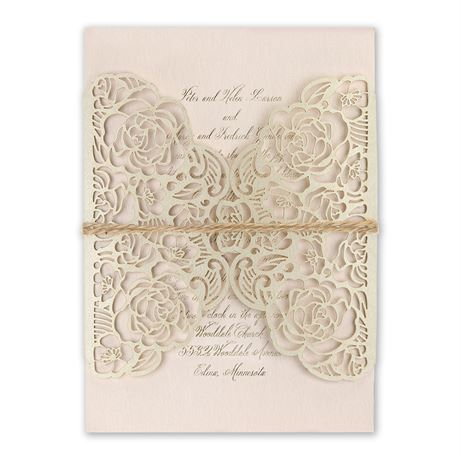 Entwined - Foil and Laser Cut Invitation
