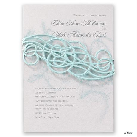 Disney Icy Swirls Invitation Elsa