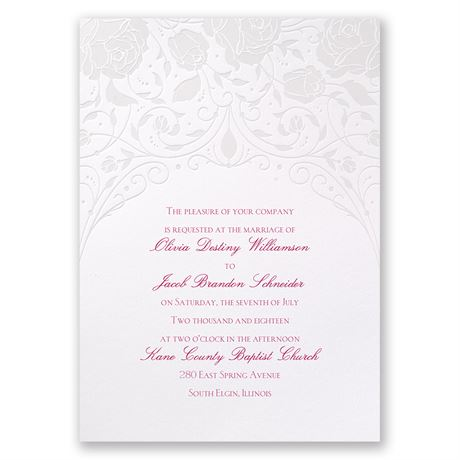 Disney Dreamy Roses Invitation Aurora