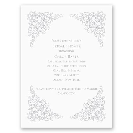 Vintage Vision Petite Bridal Shower Invitation
