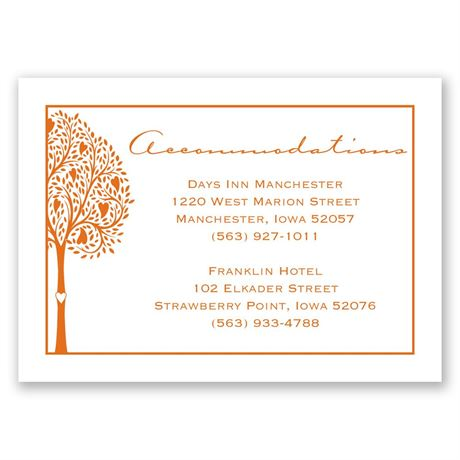 Tree of Love - Accommodations Card
