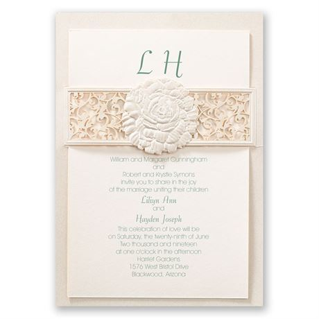 Rose Reverie Laser Cut Invitation