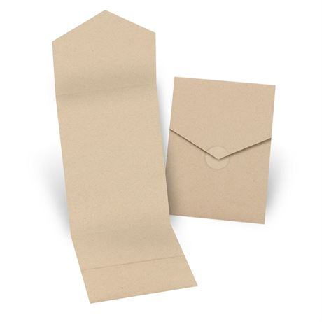 Kraft Invitation Pocket