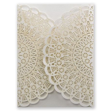 Beaming Beauty Laser Cut Invitation Wrap