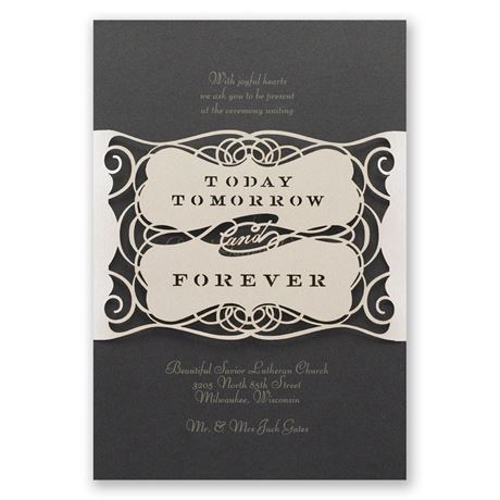 Forever Beautiful Laser Cut Invitation