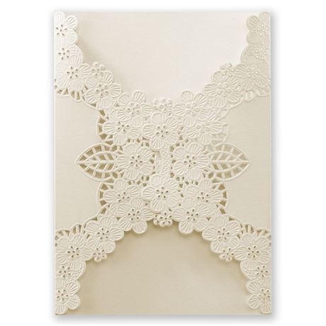 Abundant Beauty Laser Cut Invitation Wrap