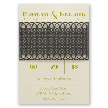 Simply Striking Laser Cut Invitation