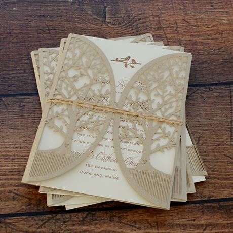 In the Grove - Laser Cut Invitation