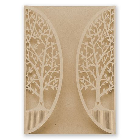 In the Grove Laser Cut Invitation Wrap
