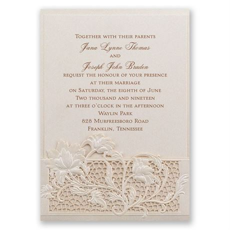 Garden Gate Laser Cut Invitation