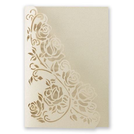 Wrapped in Roses Laser Cut Invitation Wrap