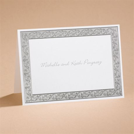 All That Shimmers Silver Note Card and Envelope