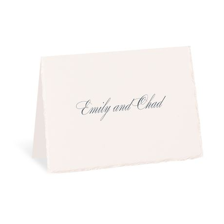 Pearl Trim Thank You Card