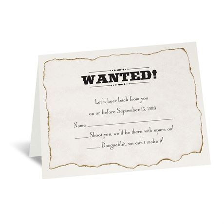 Wanted! Response Card and Envelope