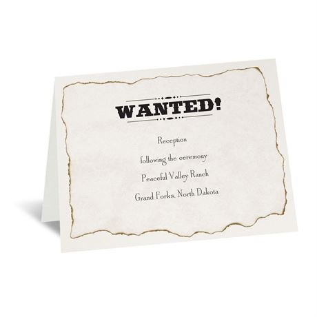 Wanted! Reception Card