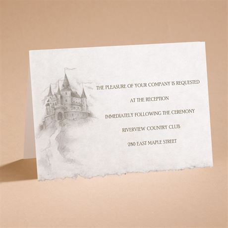Dreams Do Come True Reception Card