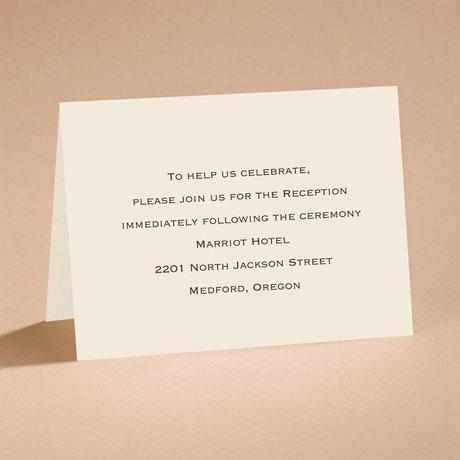 Ecru Shimmer Reception Card