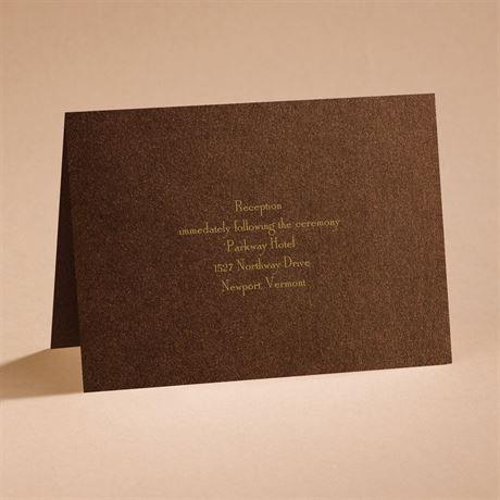 Stunning Reception Card
