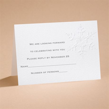 "Winter""s Elegance Respond Card and Envelope"