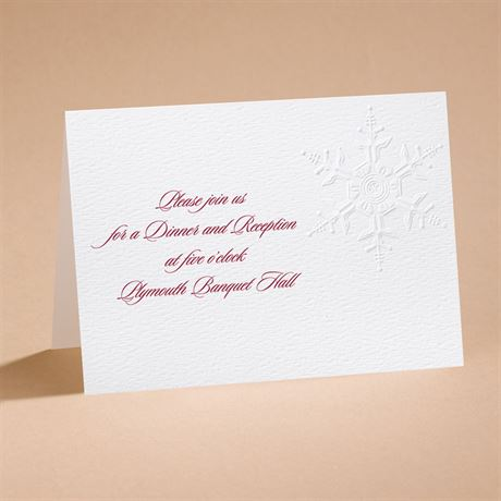 "Winter""s Elegance Reception Card"