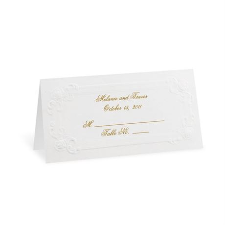 Soft White Victorian Place Cards