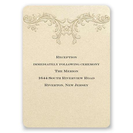Golden Vintage Reception Card