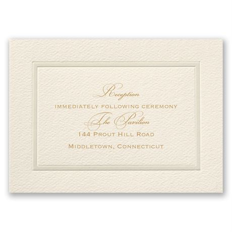 Pearl Frame Reception Card