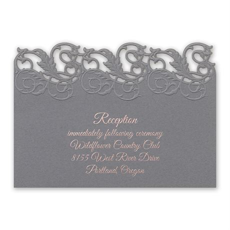 Rolling Vines Foil and Laser Cut Reception Card