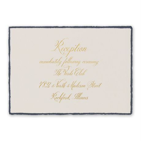 Feathered Edge Foil Reception Card