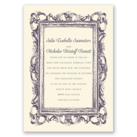 Fabulous Frames - Ecru - Invitation