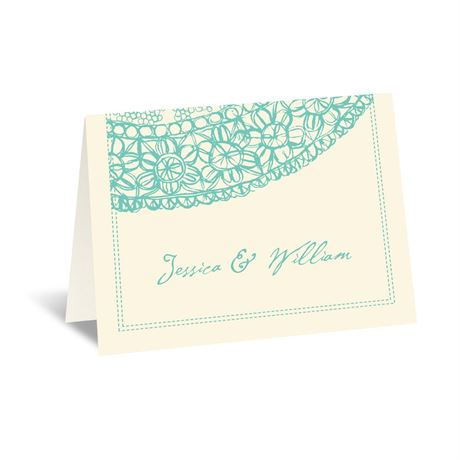Lacy Accent - Ecru - Thank You Card