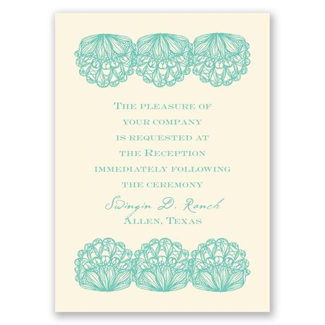 Lacy Accent - Ecru - Reception Card