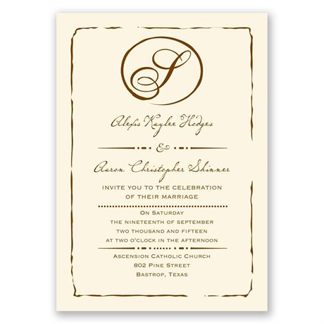 Initial Inspiration - Ecru - Invitation