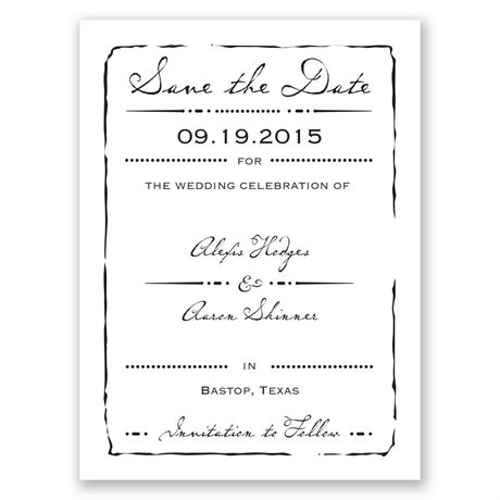 Initial Inspiration Save the Date Card