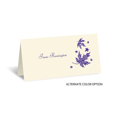 Graceful Leaves - Ecru - Place Card