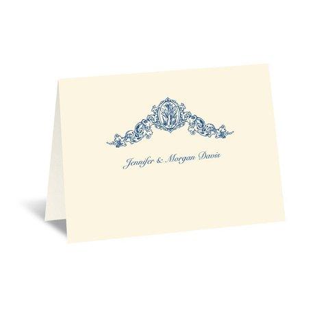 Vintage Victorian - Ecru - Thank You Card