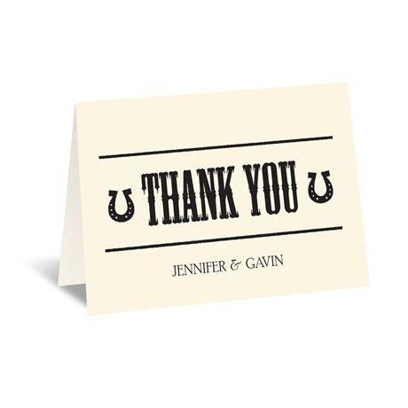 Country Luck - Ecru - Thank You Card